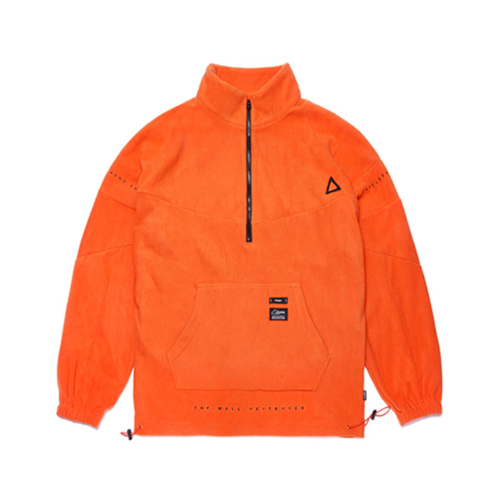 스티그마TRIANGLE FLEECE OVERSIZED ANORAK JACKET ORANGE - 풋셀스토어