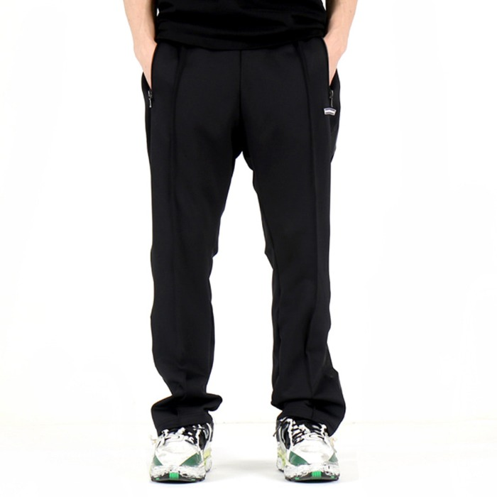 [쿠드그라스] COUP DE GRACE SHINING TRACK PANTS (BLACK/BLACK) - 풋셀스토어