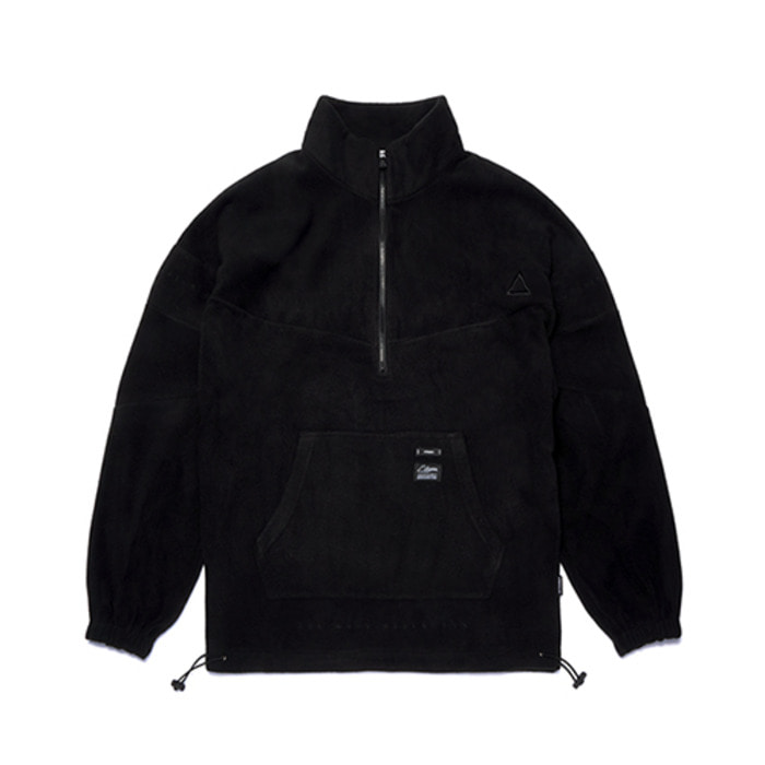스티그마TRIANGLE FLEECE OVERSIZED ANORAK JACKET BLACK - 풋셀스토어