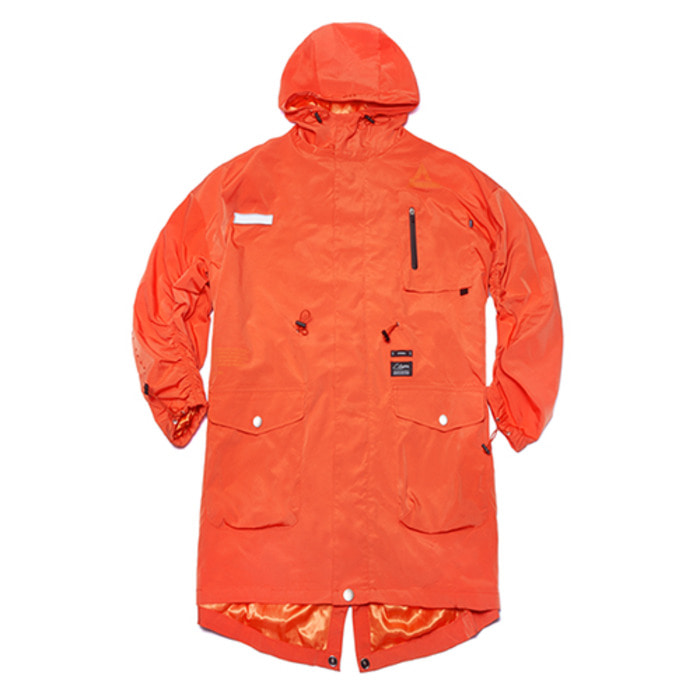 스티그마TRIANGLE OVERSIZED FISHTAIL PARKA ORANGE - 풋셀스토어