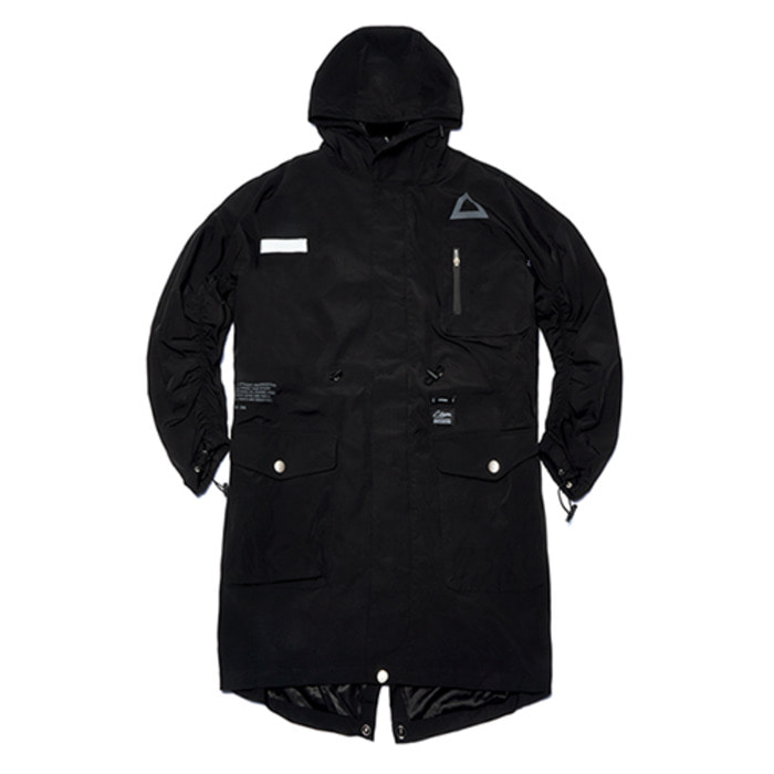 스티그마TRIANGLE OVERSIZED FISHTAIL PARKA BLACK - 풋셀스토어