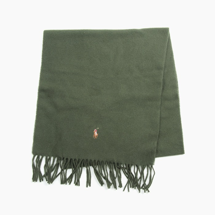 [폴로] POLO Signature Italian Virgin Wool Scarf Olive 스카프 목도리 - 풋셀스토어