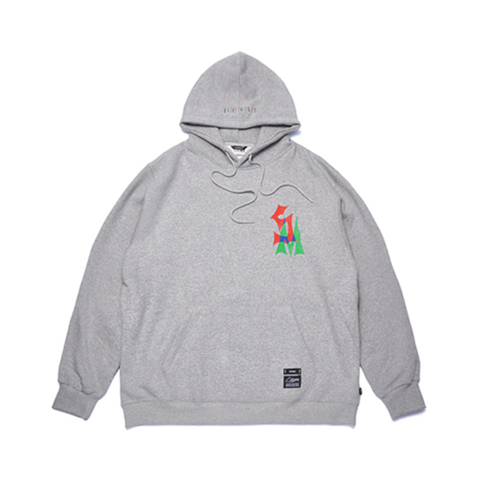 스티그마STACK OVERSIZED HEAVY SWEAT HOODIE GREY - 풋셀스토어