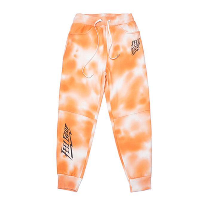 스티그마DOT TIE DYE HEAVY SWEAT JOGGER PANTS ORANGE - 풋셀스토어