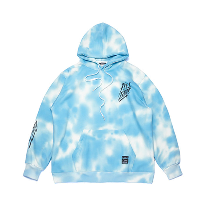 스티그마DOT TIE DYE OVERSIZED HEAVY SWEAT HOODIE SKY BLUE - 풋셀스토어