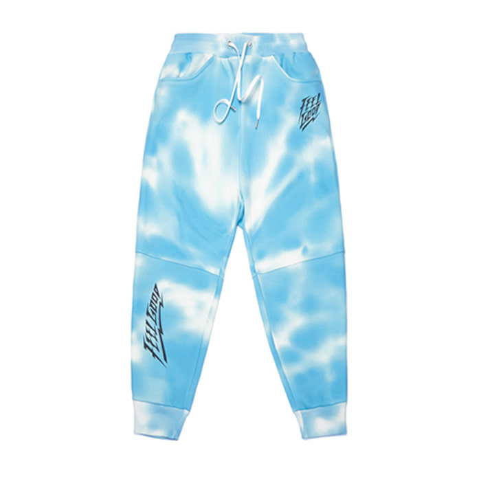 스티그마DOT TIE DYE HEAVY SWEAT JOGGER PANTS SKY BLUE - 풋셀스토어