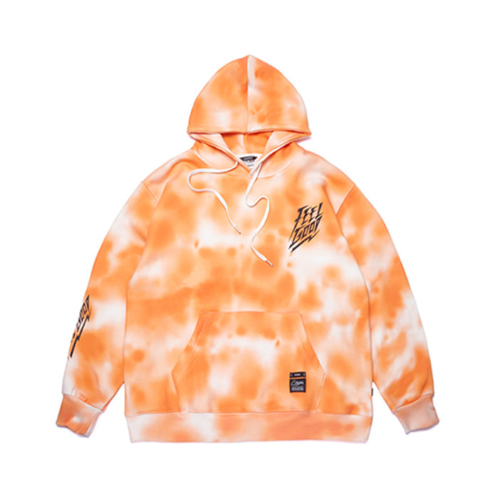 스티그마DOT TIE DYE OVERSIZED HEAVY SWEAT HOODIE ORANGE - 풋셀스토어