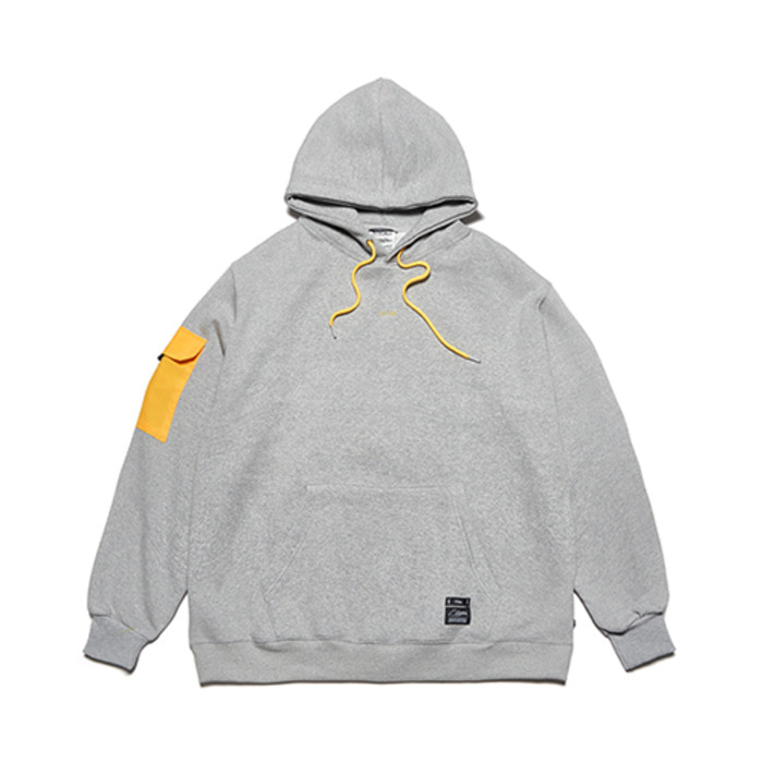 스티그마FEEL GOOD OVERSIZED HEAVY SWEAT HOODIE GREY - 풋셀스토어