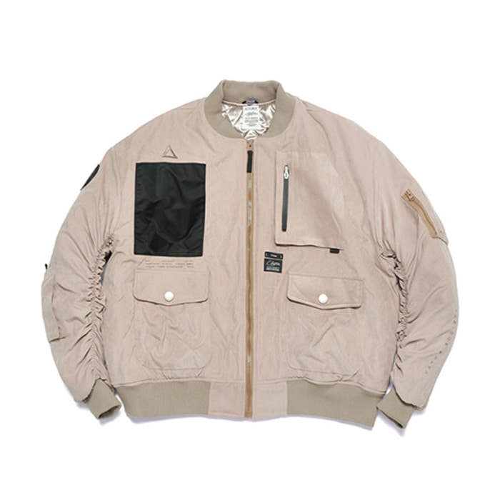 스티그마WASHED TECH OVERSIZED MA-1 JACKET BEIGE - 풋셀스토어