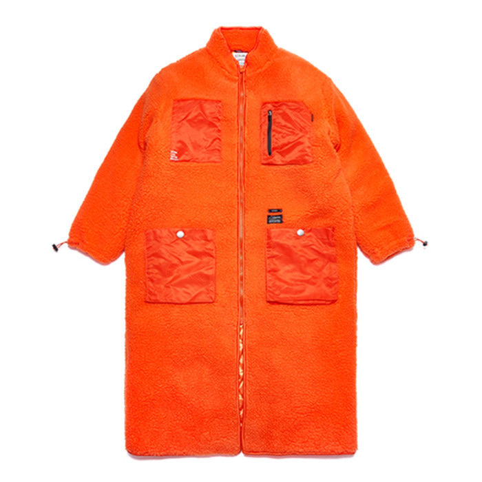 스티그마TRIANGLE OVERSIZED SHEARLING COAT ORANGE - 풋셀스토어