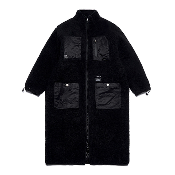 스티그마TRIANGLE OVERSIZED SHEARLING COAT BLACK - 풋셀스토어