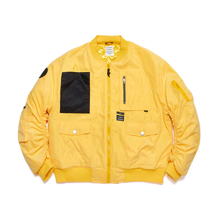 스티그마WASHED TECH OVERSIZED MA-1 JACKET YELLOW - 풋셀스토어
