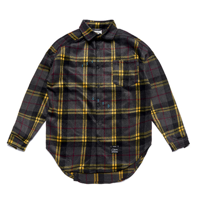 스티그마TIGER OVERSIZED CHECK SHIRTS GREY - 풋셀스토어
