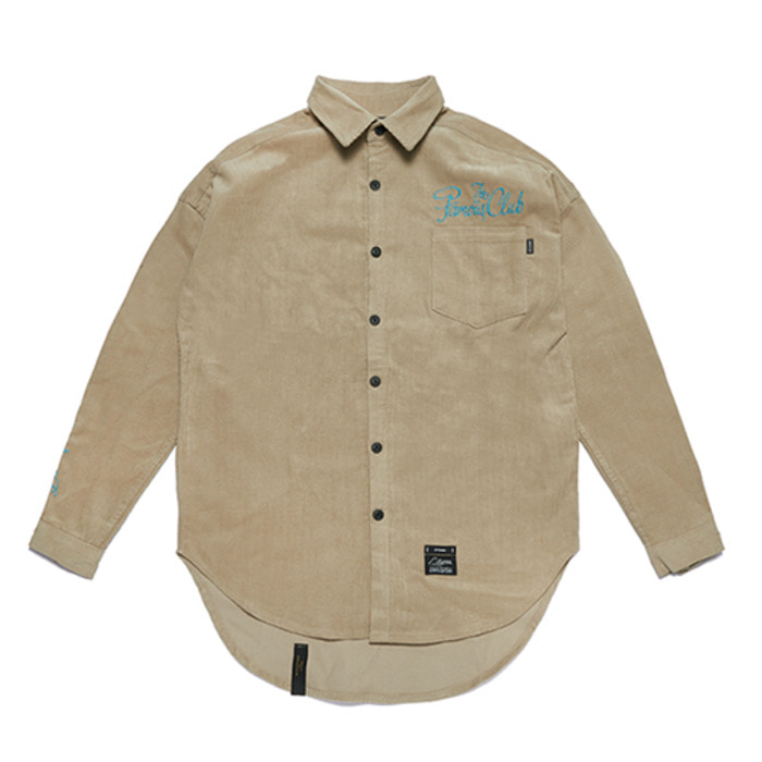 스티그마HANDWRITING OVERSIZED CORDUROY SHIRTS BEIGE - 풋셀스토어