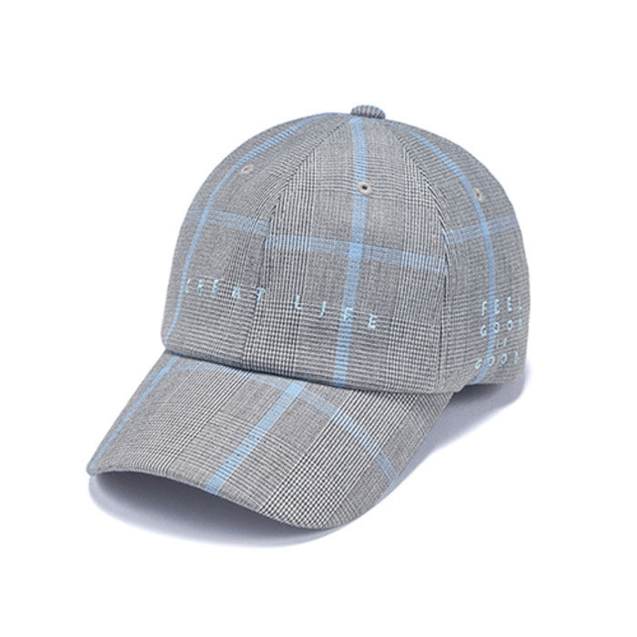 스티그마GL CHECK BASEBALL CAP BLUE GREY - 풋셀스토어