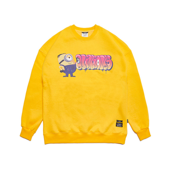 스티그마MINIONS OVERSIZED HEAVY SWEAT CREWNECK YELLOW - 풋셀스토어
