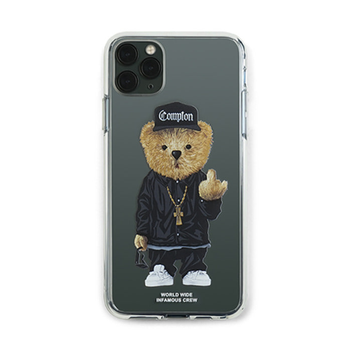 스티그마PHONE CASE COMPTON BEAR CLEAR iPHONE 11 / 11 Pro / 11 Pro Max - 풋셀스토어