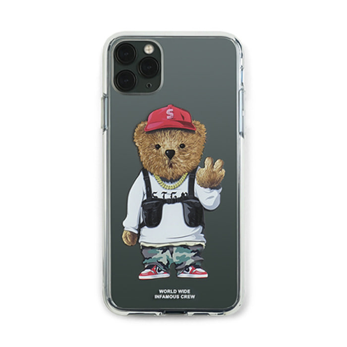 스티그마PHONE CASE V BEAR CLEAR iPHONE 11 / 11 Pro / 11 Pro Max - 풋셀스토어