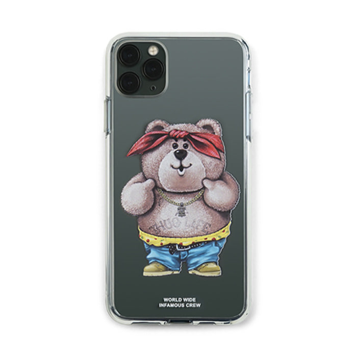 스티그마PHONE CASE THUG BEAR CLEAR iPHONE 11 / 11 Pro / 11 Pro Max - 풋셀스토어