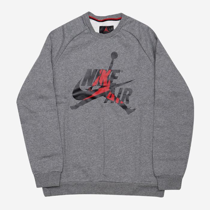 나이키 조던 점프맨 클래식 맨투맨 그레이 BV6006-091 티셔츠 - 풋셀스토어