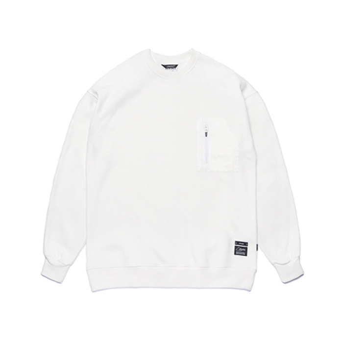 스티그마STGM TECH OVERSIZED HEAVY SWEAT CREWNECK WHITE - 풋셀스토어