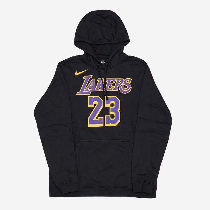 나이키 NBA LA 레이커스 르브론 제임스 후드티 블랙 AV0400-010 티셔츠 - 풋셀스토어