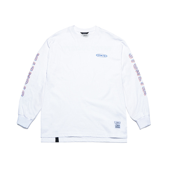 스티그마GALLOP OVERSIZED LONG SLEEVES T-SHIRTS WHITE - 풋셀스토어