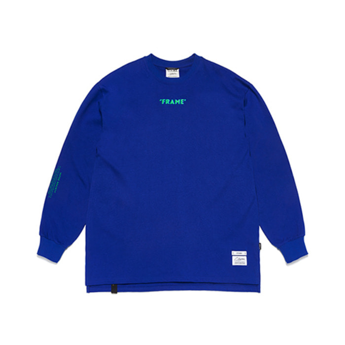 스티그마FRAME OVERSIZED LONG SLEEVES T-SHIRTS BLUE - 풋셀스토어