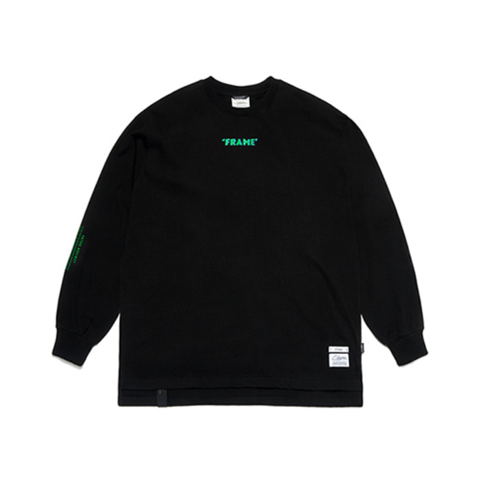 스티그마FRAME OVERSIZED LONG SLEEVES T-SHIRTS BLACK - 풋셀스토어