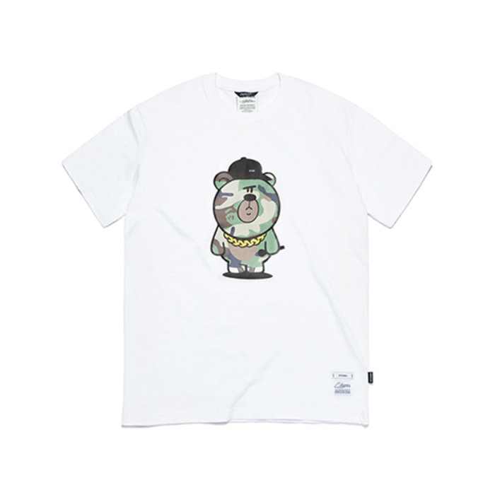 스티그마CAMOUFLAGE BEAR T-SHIRTS WHITE - 풋셀스토어