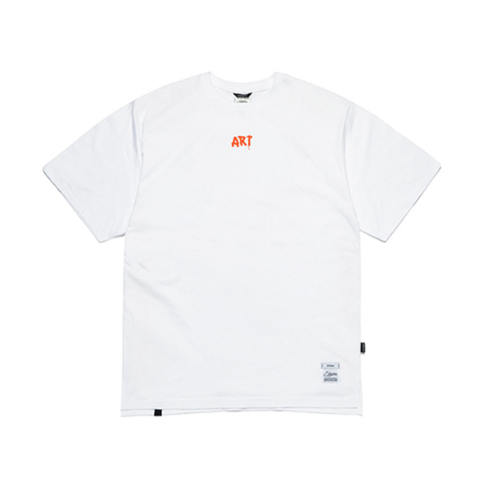 스티그마ART OVERSIZED T-SHIRTS WHITE - 풋셀스토어