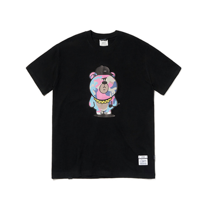 스티그마CAMOUFLAGE BEAR T-SHIRTS BLACK - 풋셀스토어