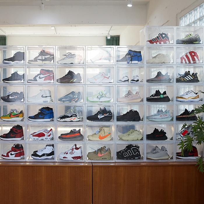 슈브제 와이드 프리미엄 신발 보관함 (변색 방지, 자외선 차단, 편리한 수납) - 풋셀스토어