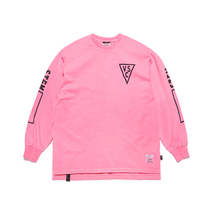 스티그마INFAMOUS PIGMENT OVERSIZED LONG SLEEVES T-SHIRTS NEON PINK - 풋셀스토어