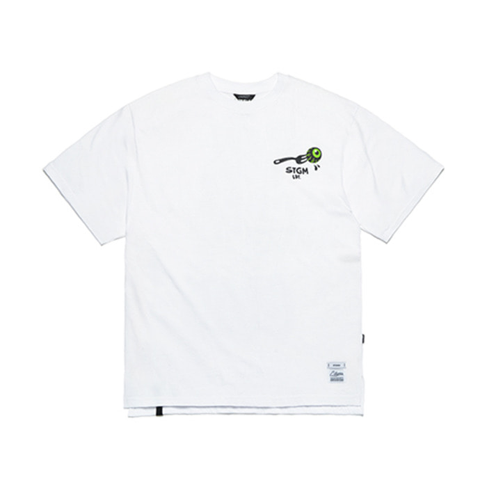 스티그마FORK OVERSIZED T-SHIRTS WHITE - 풋셀스토어