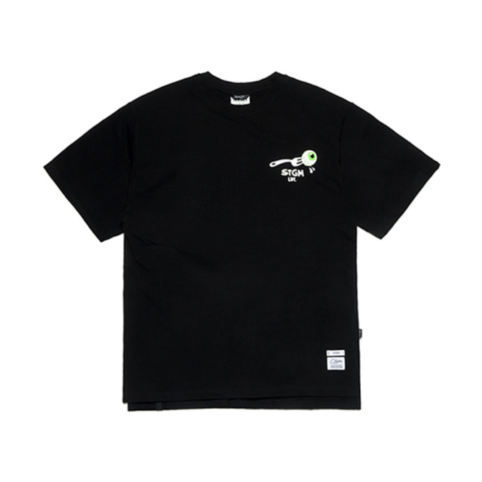 스티그마FORK OVERSIZED T-SHIRTS BLACK - 풋셀스토어