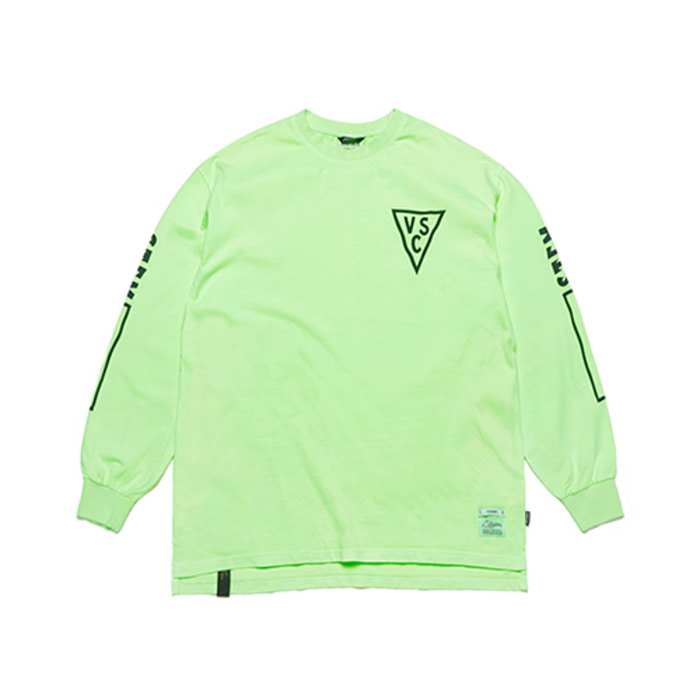 스티그마INFAMOUS PIGMENT OVERSIZED LONG SLEEVES T-SHIRTS NEON GREEN - 풋셀스토어