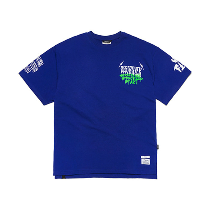 스티그마LIGHTNING OVERSIZED T-SHIRTS BLUE - 풋셀스토어