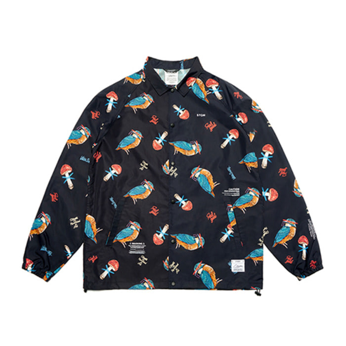 스티그마BIRD OVERSIZED COACH JACKET PATTERN - 풋셀스토어