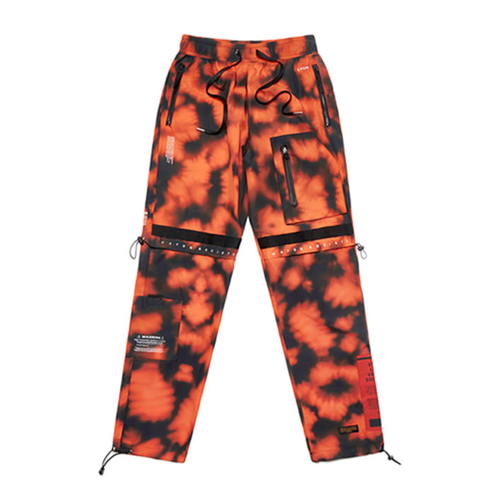 스티그마S TECH JOGGER PANTS ORANGE PATTERN - 풋셀스토어