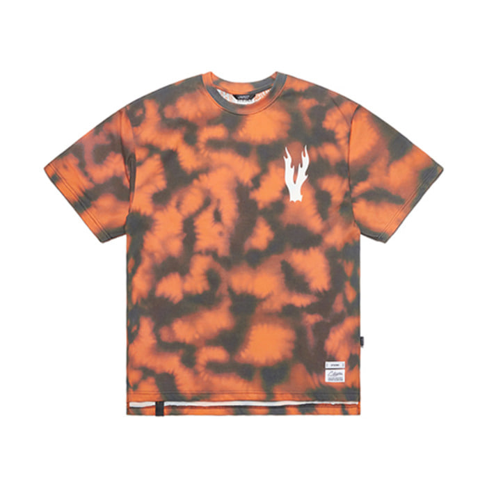 스티그마ORANGE OVERSIZED T-SHIRTS PATTERN - 풋셀스토어