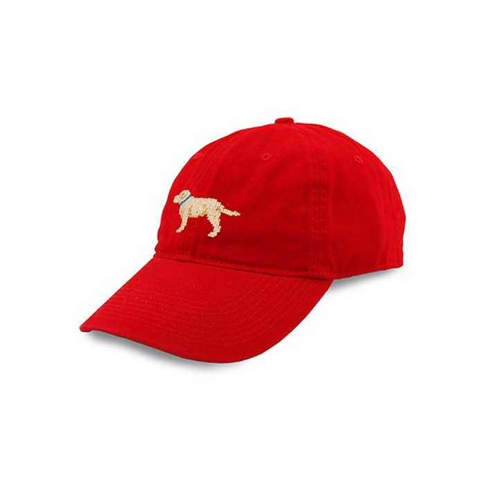 [Smathers&Branson]Adult`s Hats Yellow Lab on Red - 풋셀스토어