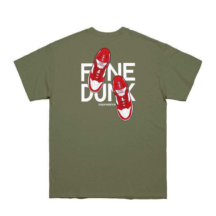 [위티나트] FFBW 파인 덩크 반팔 티셔츠 올리브 그린 / FFBW FINE DUNK SSV T-SHIRT olive green - 풋셀스토어