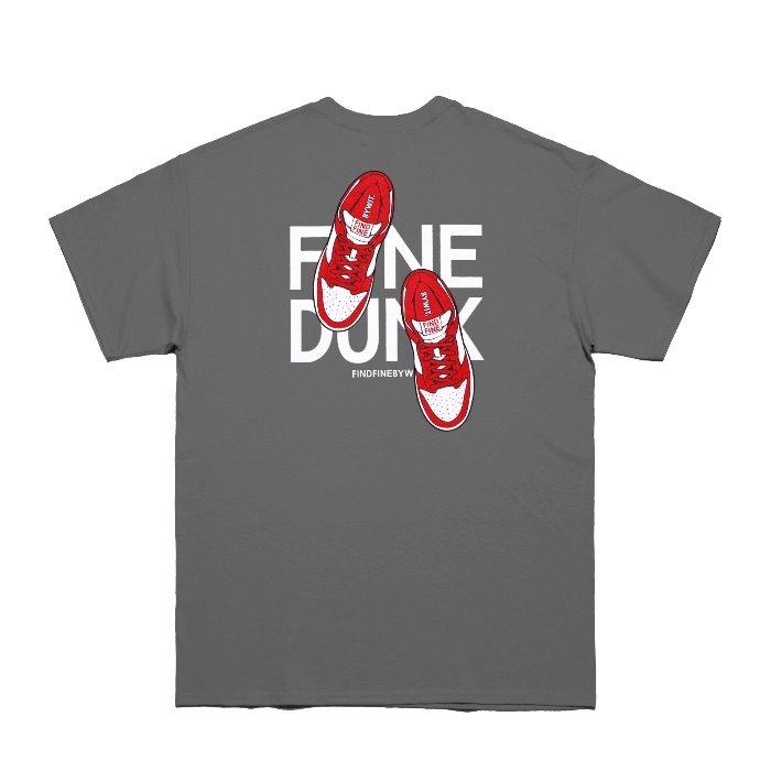 [위티나트] FFBW 파인 덩크 반팔 티셔츠 챠콜 / FFBW FINE DUNK SSV T-SHIRT charcoal - 풋셀스토어