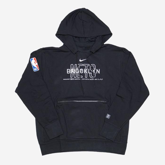 나이키 NBA 브루클린 네츠 코트사이드 풀오버 후드티