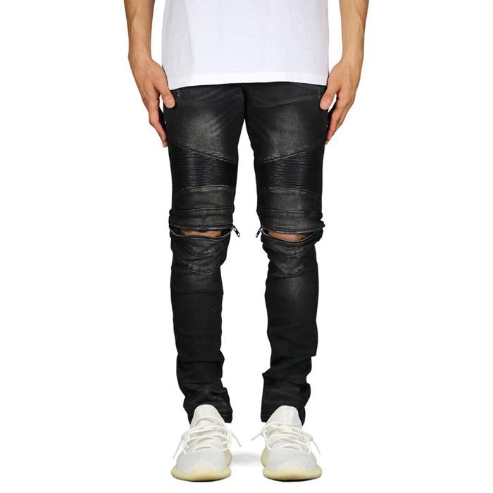 하이퍼데님 Black Moto Zipper  Jean - 풋셀스토어