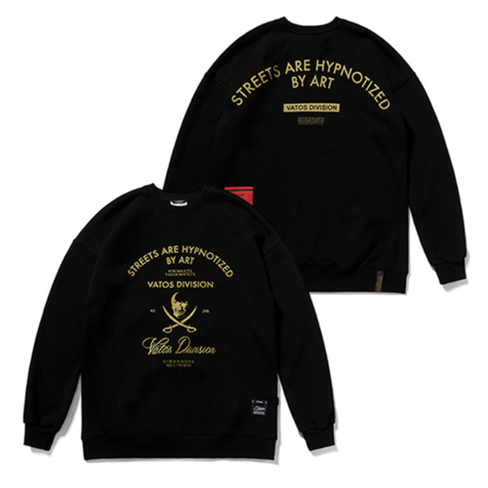 스티그마DIVISION CLASSIC OVERSIZED HEAVY SWEAT CREWNECK BLACK - 풋셀스토어