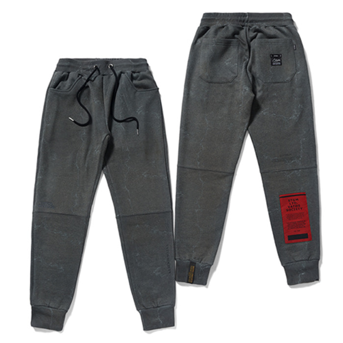 스티그마MARBLE HEAVY SWEAT JOGGER PANTS DARK GREY - 풋셀스토어