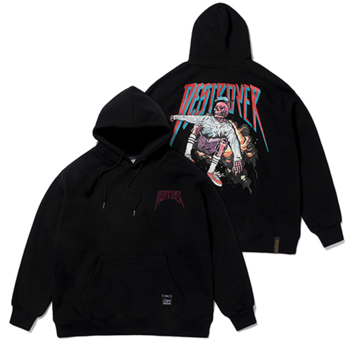 스티그마SKATE OVERSIZED HEAVY SWEAT HOODIE BLACK - 풋셀스토어