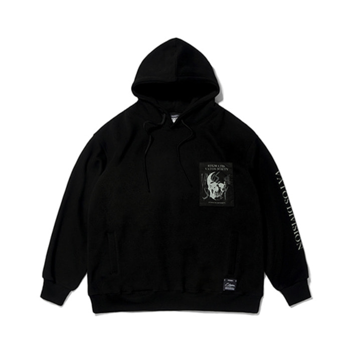스티그마SKULL OVERSIZED HEAVY SWEAT HOODIE BLACK - 풋셀스토어